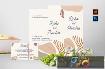 Ricko and Pamlea Wedding Invitation H83MTFA 5