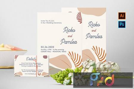 Ricko and Pamlea Wedding Invitation H83MTFA 1