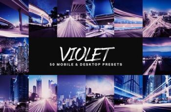 50 Violet Lightroom Presets and LUTs 4777561 2