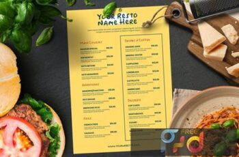 Simple Restaurant Menu NR3E6TT 4