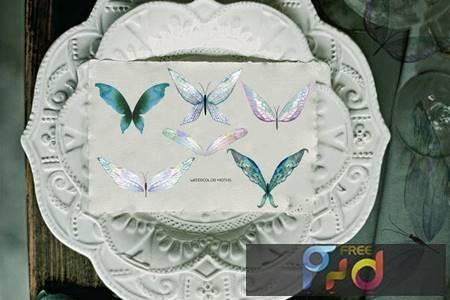 Watercolor tender butterflies and moths 4ADRYD2 1