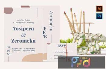 Yosiperu and Zeromeku-Wedding Invitation F4WTAUW 4