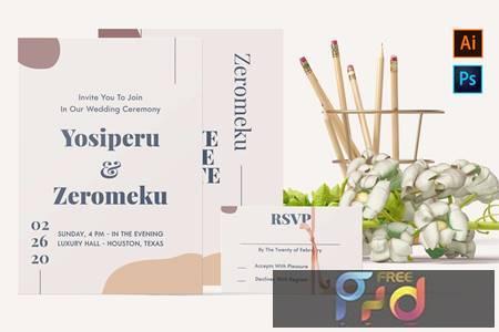 Yosiperu and Zeromeku-Wedding Invitation F4WTAUW 1