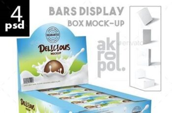 Bars Display Box Mock-up 26352582 4