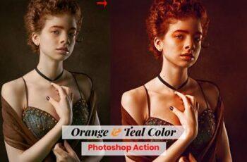 Orange & Teal Color Photoshop Action 4886378 5