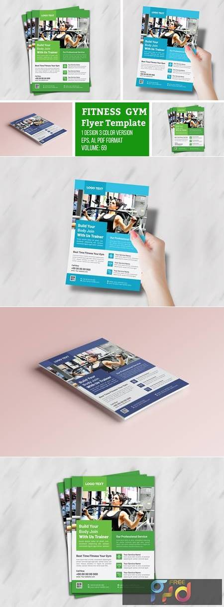 Body Fitness Gym Flyer Template 4691728 1