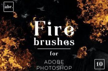 Fire Photoshop Brushes 26427935