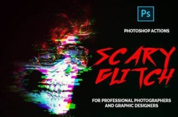 Scary Glitch - Premium Photoshop Actions 26425724 7