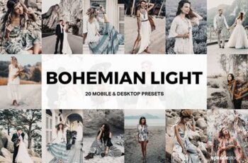 20 Bohemian Light Lightroom Presets and LUTs 4881844 6