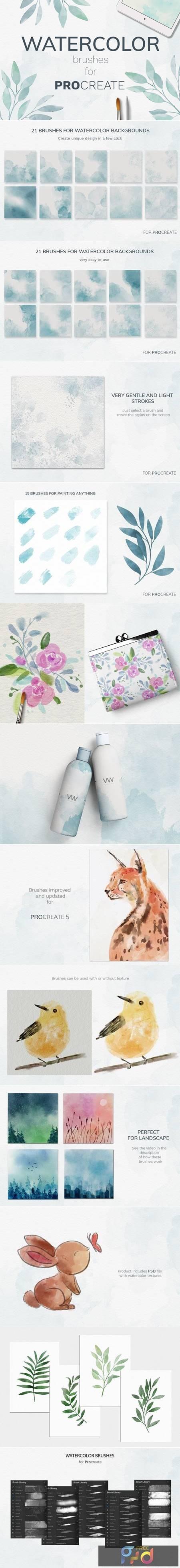 Procreate watercolor brush set 3995326 1