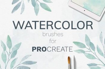 Procreate watercolor brush set 3995326 14