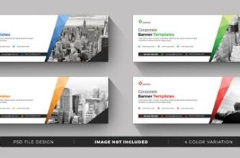 Corporate business postcard and banner templates 2