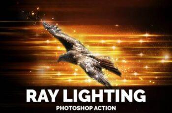 Ray Lighting Photoshop Action 4028861 3