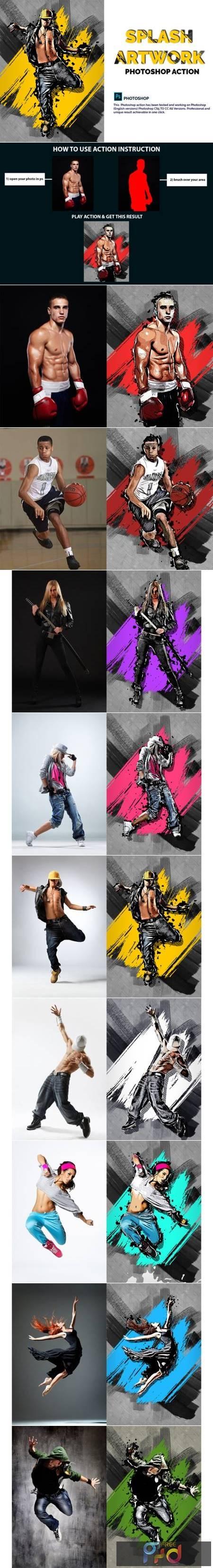 Splash Artwork Photoshop Action 4028784 1