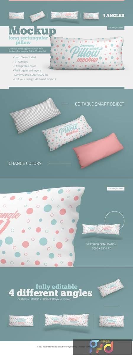 Long Rectangular Pillow Mockup Set 4879246 1