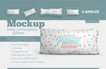 Long Rectangular Pillow Mockup Set 4879246
