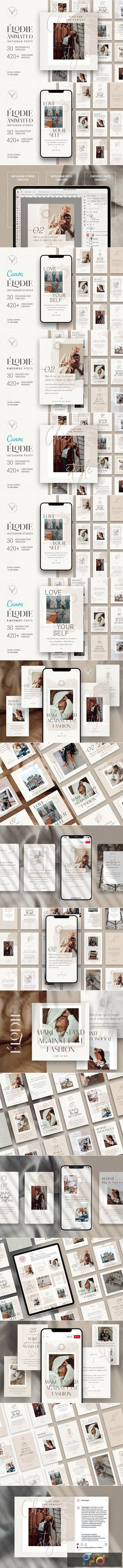 PS + Canva - Elodie Social Media Templates Pack 4888452 1