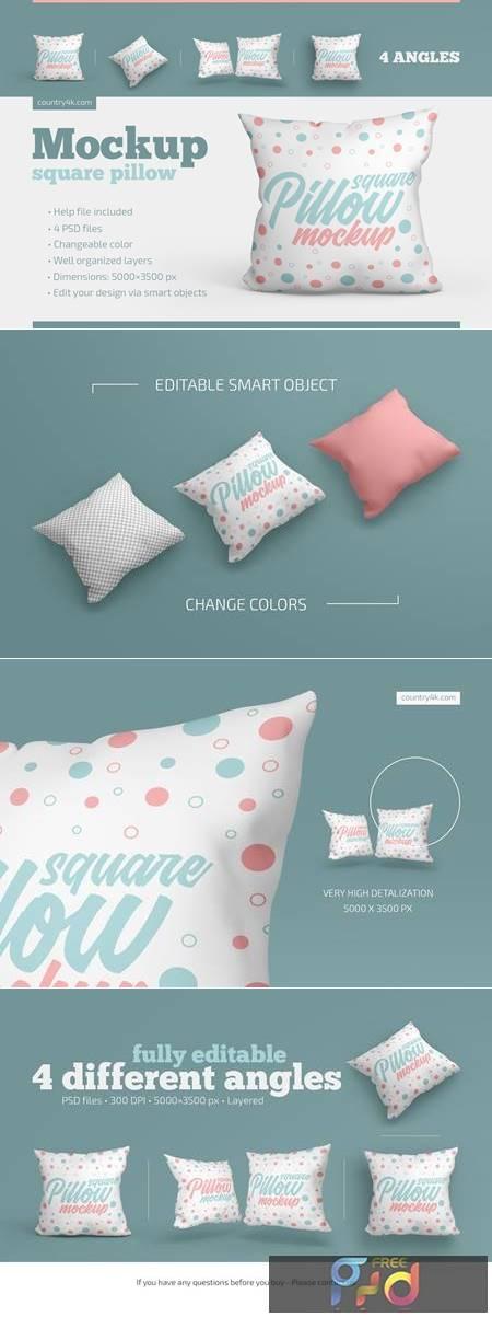 Square Pillow Mockup Set 4871300 1
