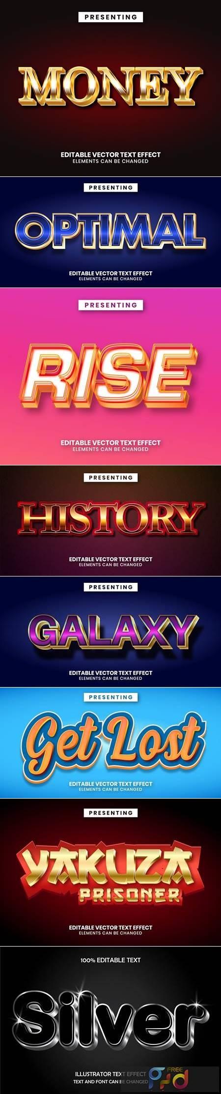 Editable font effect text collection illustration design 80 1