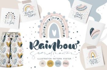 Rainbow Scandinavian SVG 4033437 12