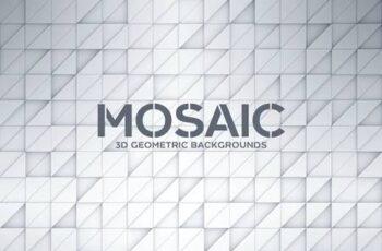 3D Geometric Mosaic Backgrounds FY8BLKB 4