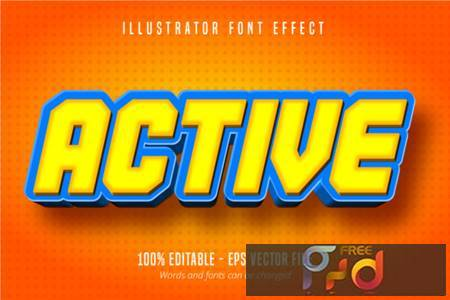 Active Cartoon Style, Text Effect 3943607 1