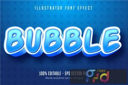 Bubble Cartoon Style, Text Effect 3943587 1