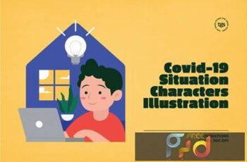 Covid-19 Situation Characters Illustration 9GJZLZC 9