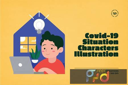 Covid-19 Situation Characters Illustration 9GJZLZC 1