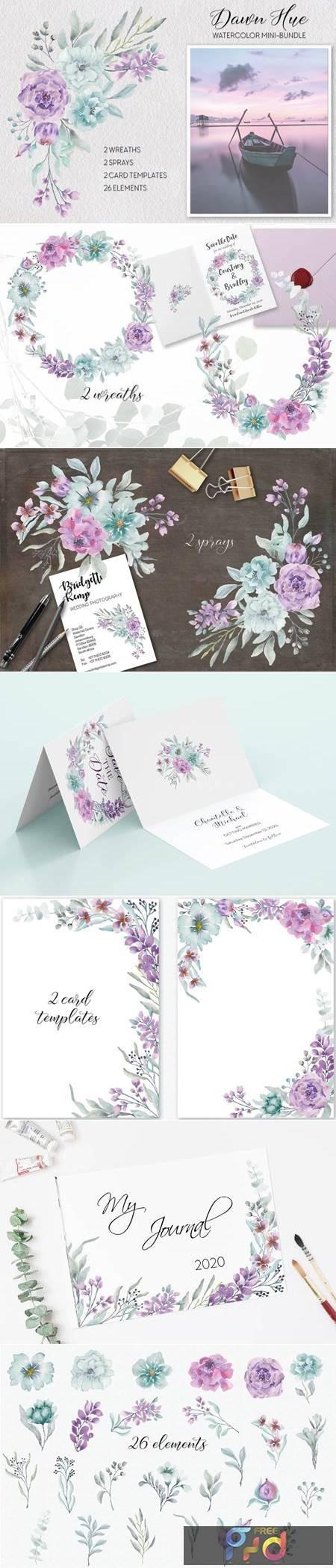 Dawn Hue Watercolor Mini-bundle 4854366 1