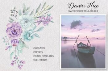 Dawn Hue Watercolor Mini-bundle 4854366