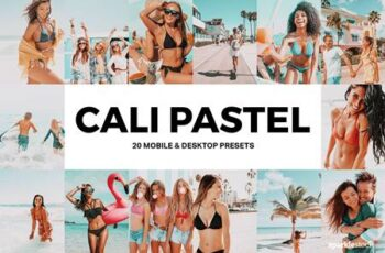 20 Cali Pastel Lightroom Presets and LUTs 4905485