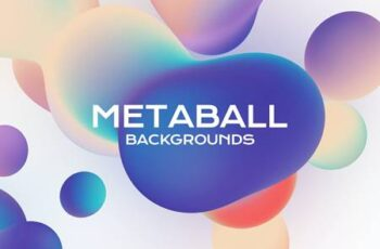 Metaball Holographic Liquid Bubbles Backgrounds H83D8S3