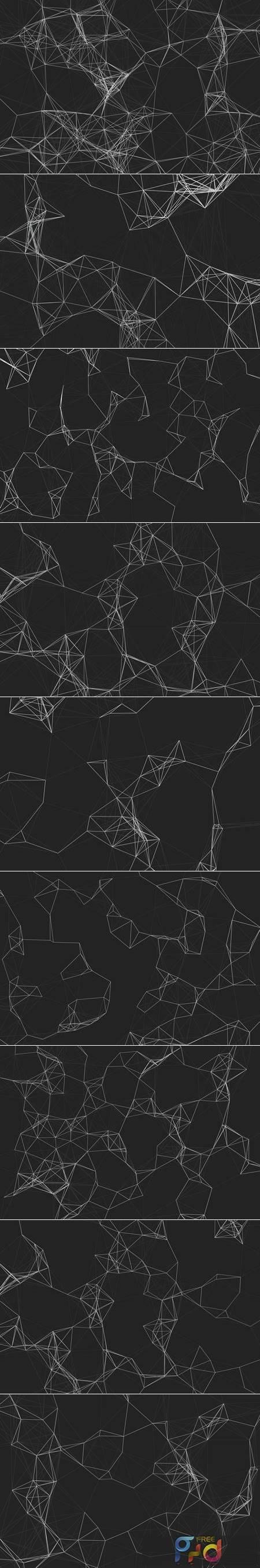 Polygon Mesh Background Set K92W3UC 1