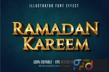 Ramadan Kareem, Shiny Gold Text Effect 3943361 8