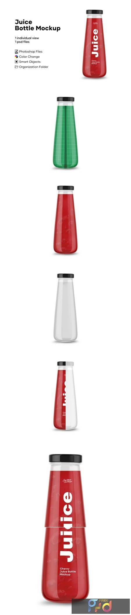Clear Glass Bottle with Cherry Juice 4902437 1