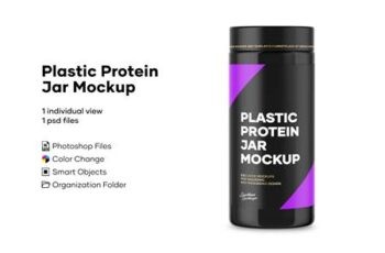 Plastic Protein Jar Mockup 4897060 4