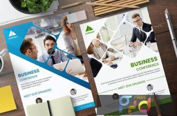Business Conference Flyer Template 4DUWY5B 2