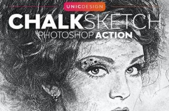 Chalk Sketch Photoshop Action 26510836