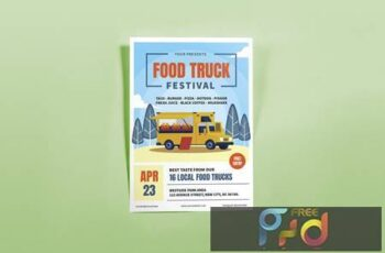 Food Truck Festival Summer Flyers 96BDT49