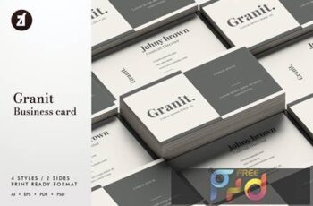 Granit - Business card template J59H5MB 7