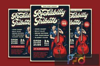 Rockabilly Show Flyer Template U79QGTE