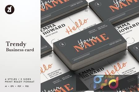 Trendy - Business card template MTZ5QQC 1