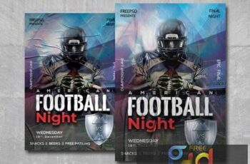 American Football Night - Premium flyer psd template 1