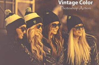 Vintage Color Photoshop Action 4755683 4