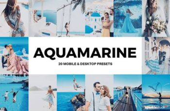 20 Aquamarine Lightroom Presets and LUTs 4919763 6