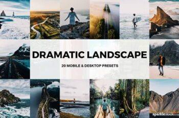 20 Dramatic Landscape Lightroom Presets and LUTs 4921110
