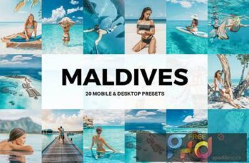 20 Maldives Lightroom Presets and LUTs PFL2QJU 6