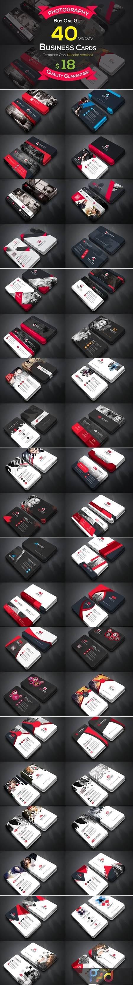 40 Photography Business Cards Bundle 4606406 1
