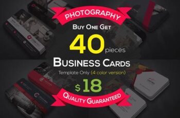 40 Photography Business Cards Bundle 4606406 4